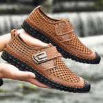 Men's Mesh Hiking Shoes Water Shoes Breathable Hollow Mesh Shoes