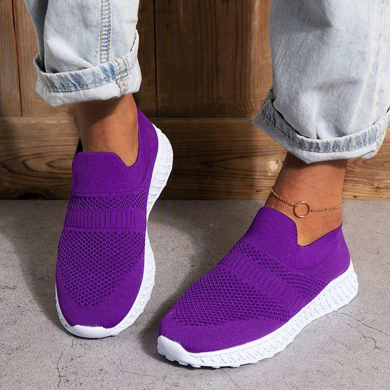 Women Plus Size Breathable Slip On Daily Sneakers