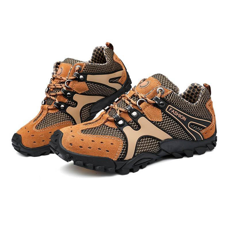 Men's Athletic Mesh Lace Up Breathable Sneakers Hiking Shoes