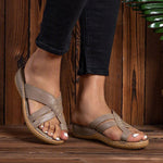 Women Holiday Toe Ring Casual Comfy Flat Heel Footbed Slippers
