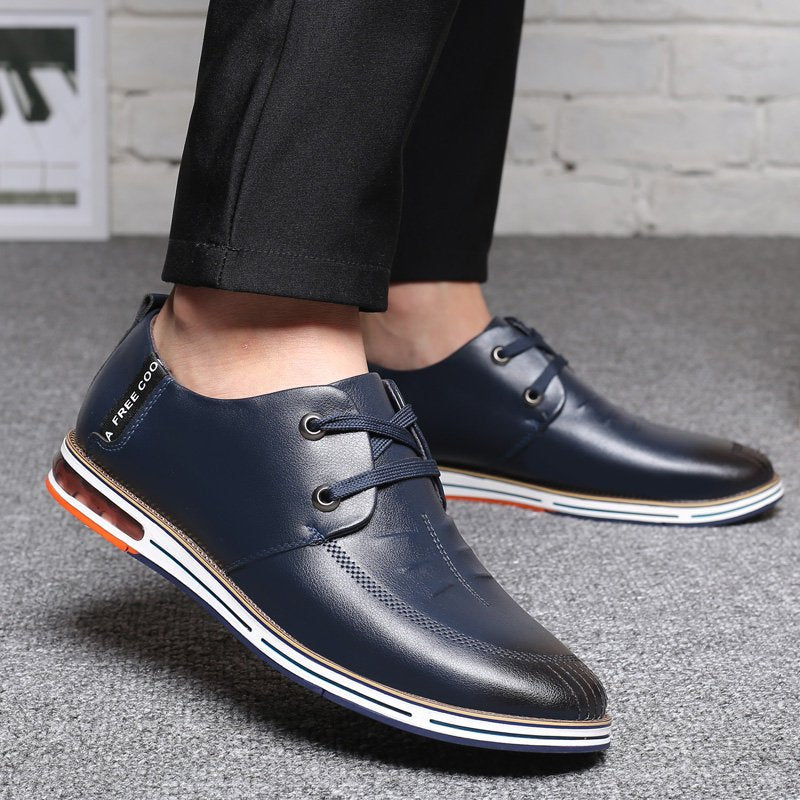 Men Microfiber Leather Non Slip Soft Air-cushion Sole Casual Driving Shoes