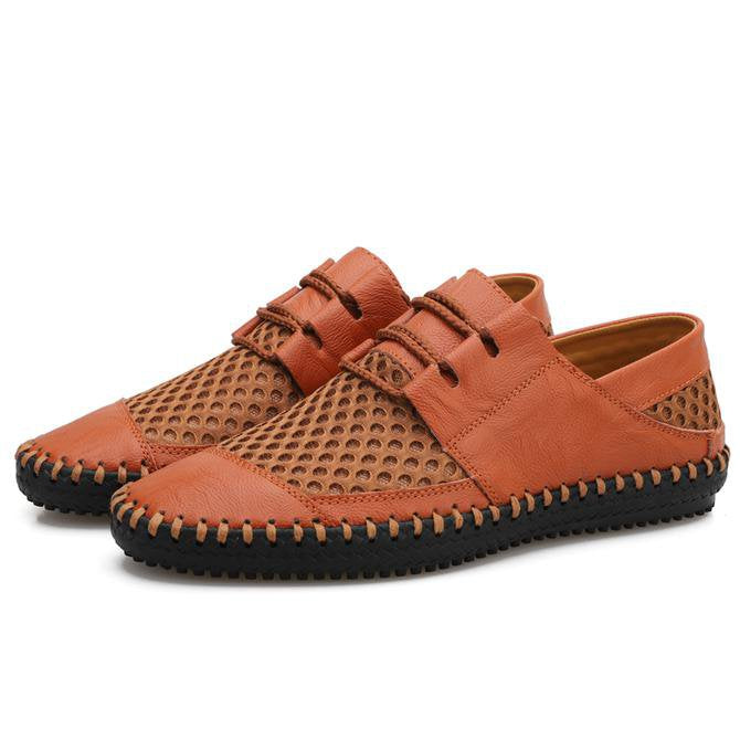 Men's Mesh Hand Sewing Non-Slip Outdoor Casual Shoes