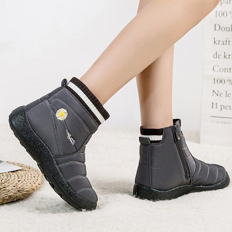 Women Winter Anti-Slip Fur Lined Ankle Boots