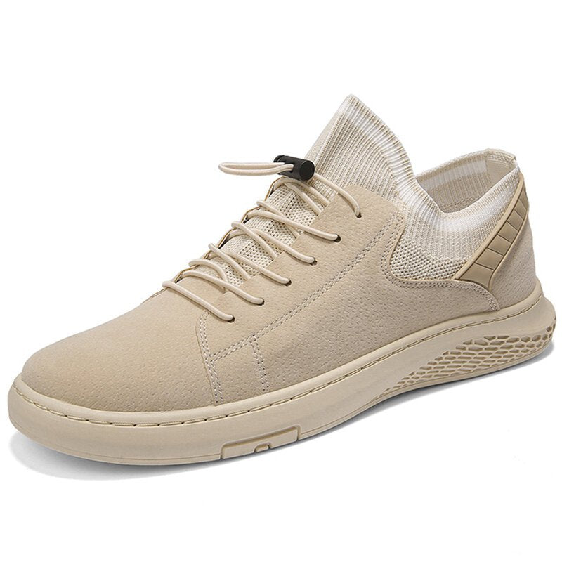 Men Comfy Elastic Slip On Sneakers Sport Casual Trainers