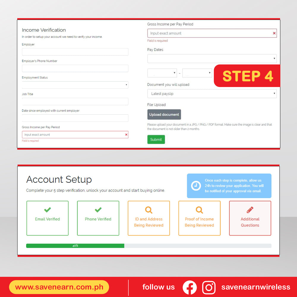 savenearn-online-installment-gadget-loan-tendopay-detailed-process-step-4