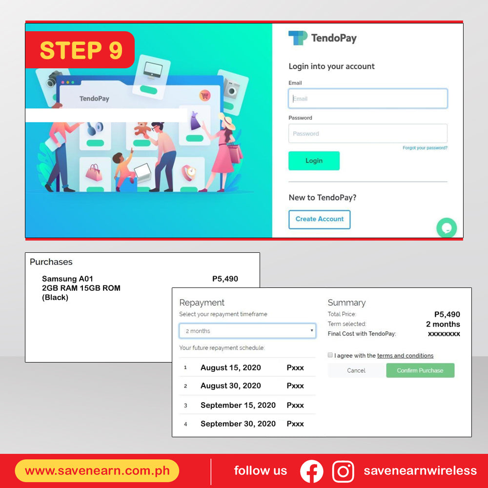 savenearn-online-installment-gadget-loan-tendopay-detailed-process-step-9