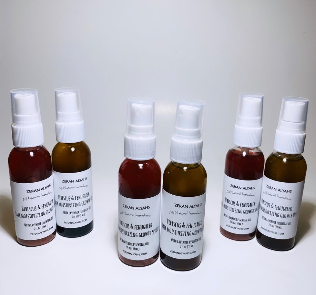 Hibiscus & Fenugreek Hair Moisturizing Growth Oil and Spritz With Lavender Essential Oil Set