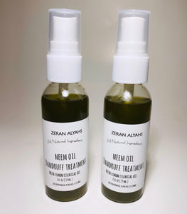 Neem Oil Dandruff Treatment with Lemon Essential Oil