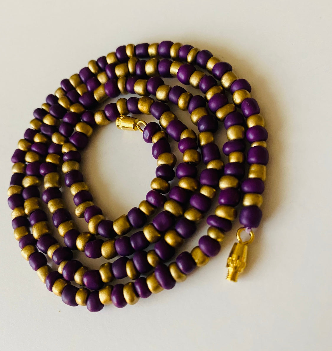 Crown Purple and Gold Goddess Waist Beads