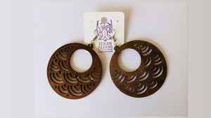 Goddess Earrings with Tribal Design