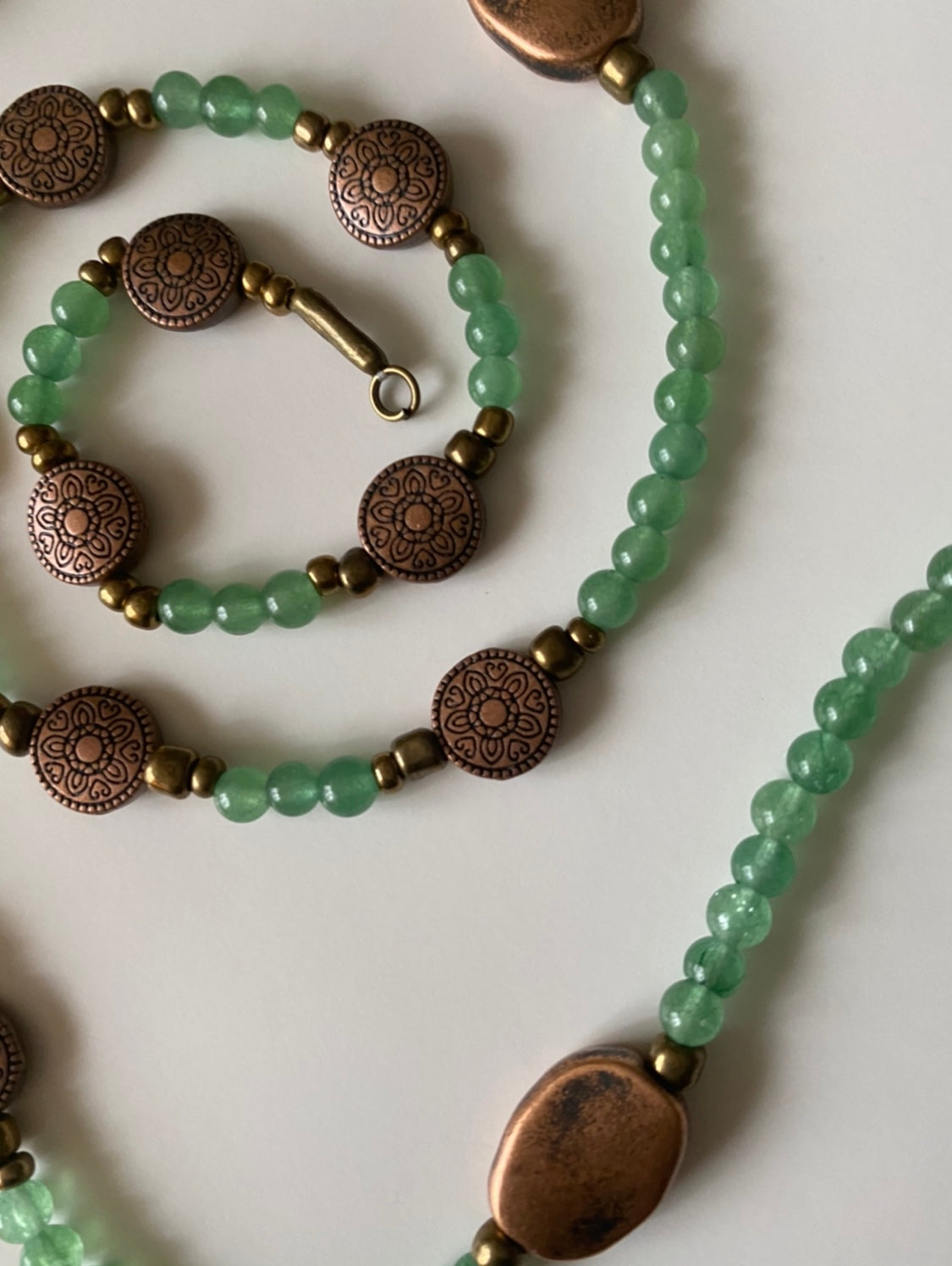 Aventurine Crystal and Copper Waist Beads