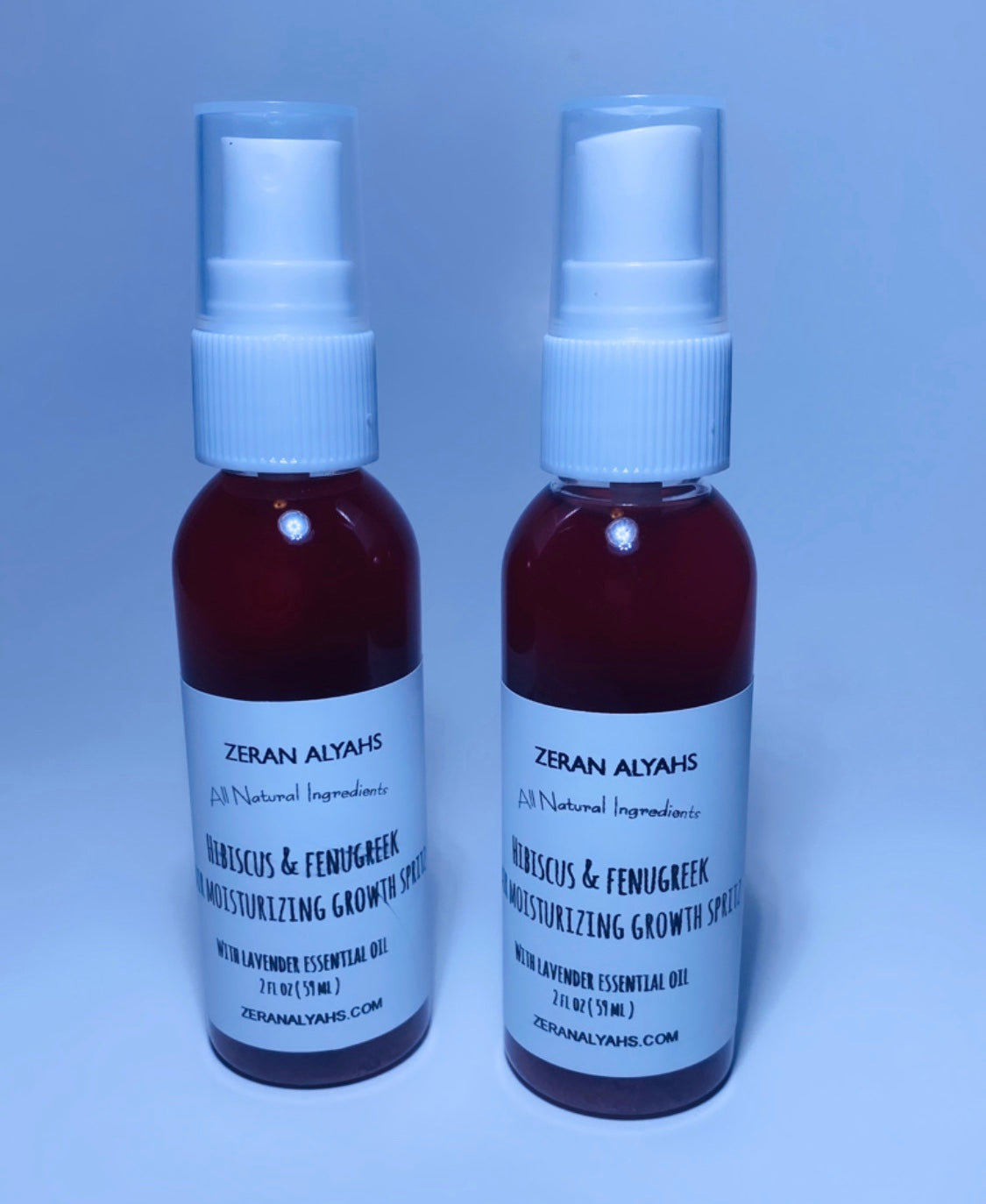 Hibiscus & Fenugreek Hair Moisturizing Growth Spritz With Lavender Essential Oil