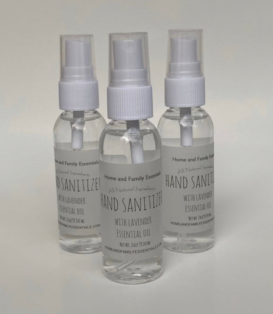 3 Pack Hand Sanitizer with Lavender Essential Oil