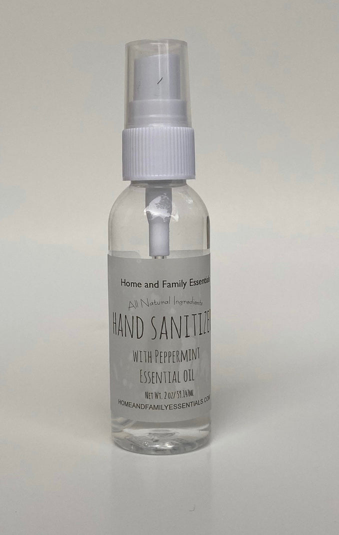 Hand Sanitizer with Peppermint Essential Oil