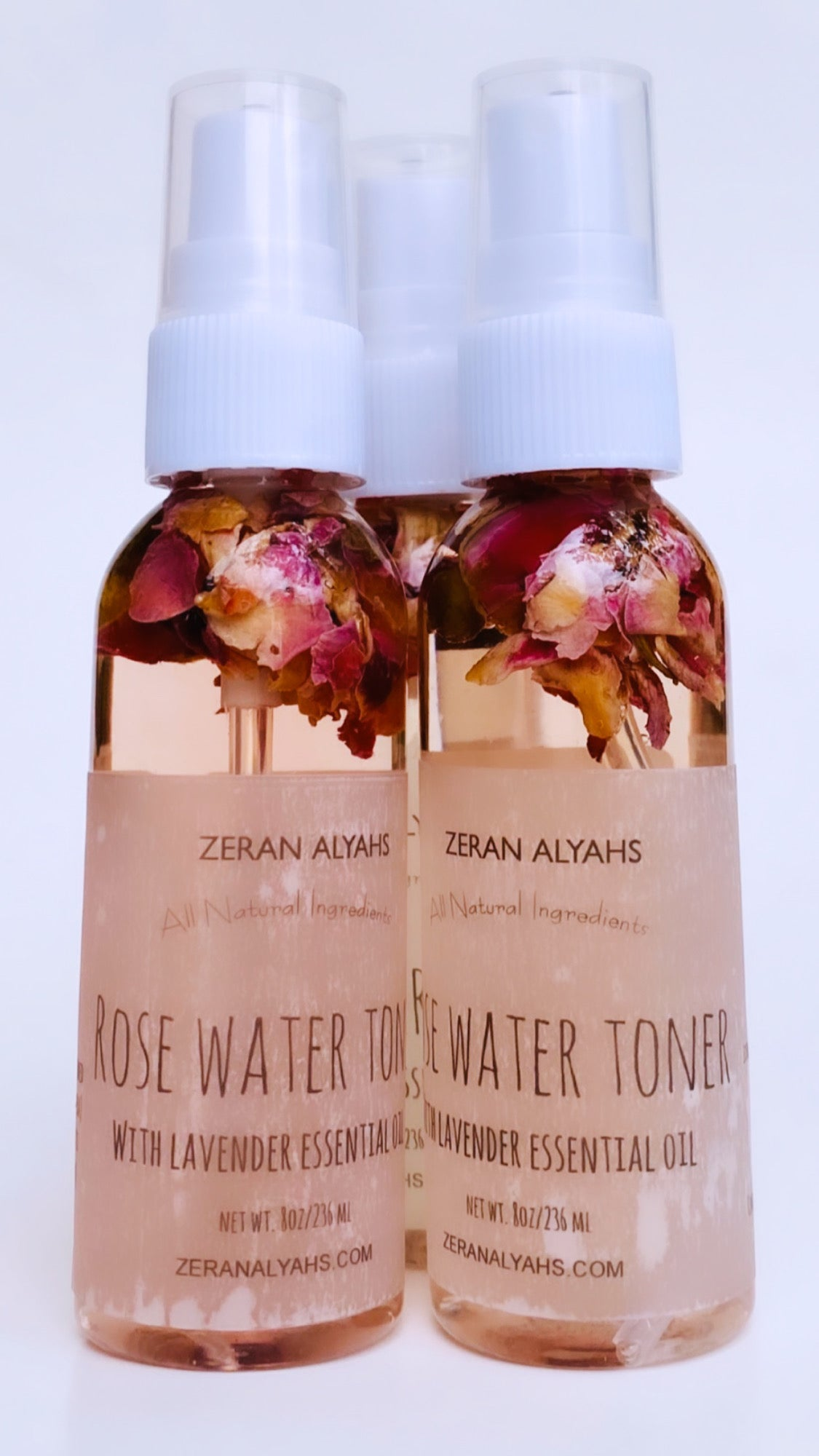 Rose Water Toner with Lavender Essential Oil