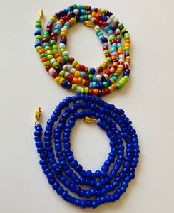 Refreshing Rainbow and Royal Blue Goddess Waist Beads 2pcs Set