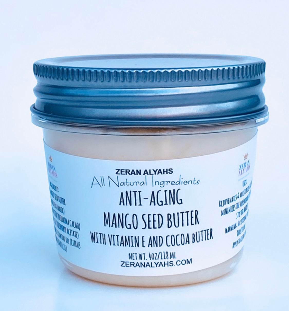 Anti-aging Mango Seed Butter with Vitamin E and Cocoa Butter