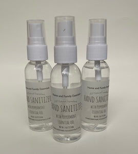 3 Pack Hand Sanitizer with Peppermint Essential Oil