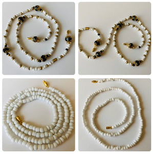 Clarity White and Gold Goddess Waist Beads 2pcs Set