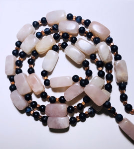Rose Quartz, Agate and Copper Crystal Waist Beads