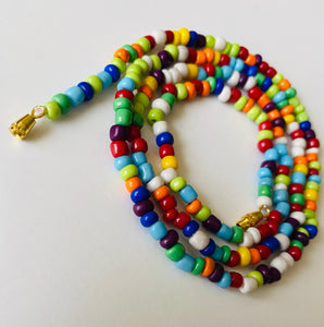 Refreshing Rainbow Goddess Waist Beads