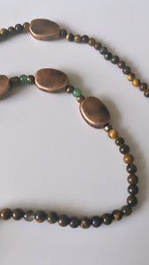 Tiger's Eye and Copper Waist Beads