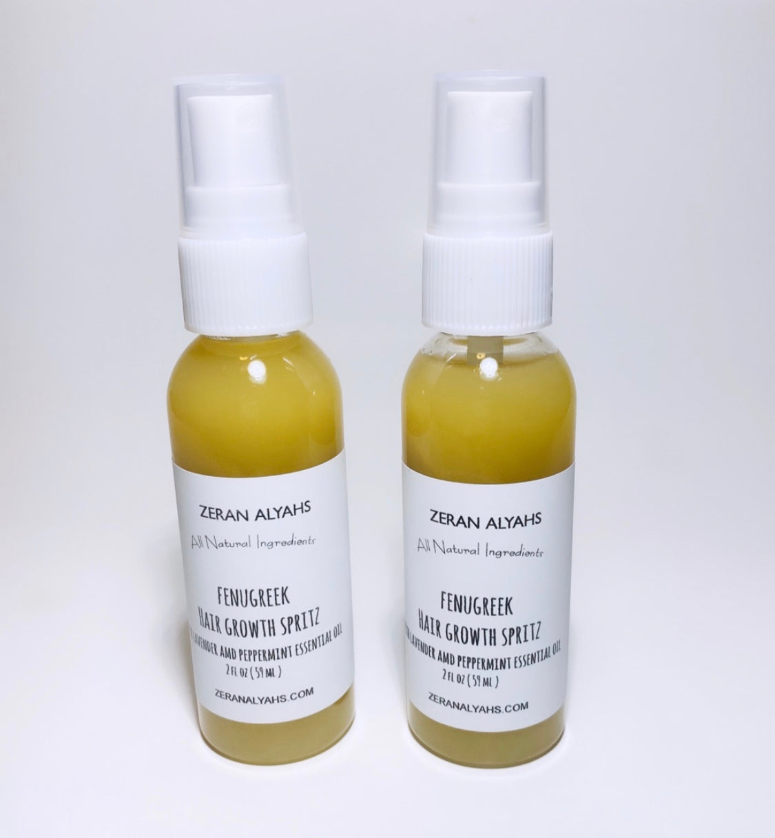 Fenugreek Hair Growth Spritz with Lavender and Peppermint Essential Oil