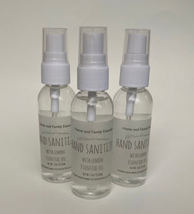 3 Pack Hand Sanitizer with Lemon Essential Oil