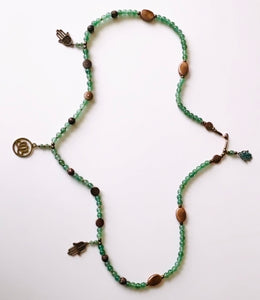 Good Fortune Aventurine and Copper Waist Beads