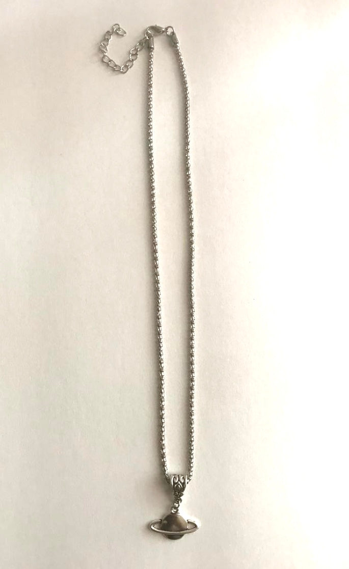 Saturn Silver Necklace