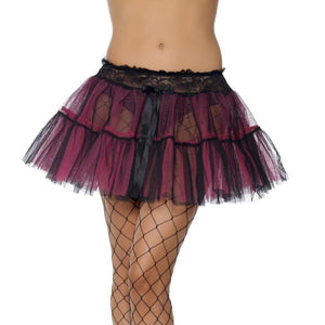 Net tutu in black and pink