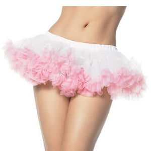 Short petticoat in white and pink