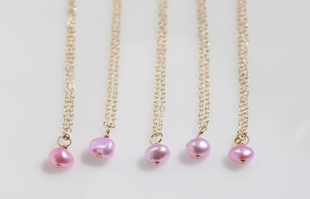 Rose pink peal mermaid necklace☆ローズピンクパールのマーメイドネックレス
