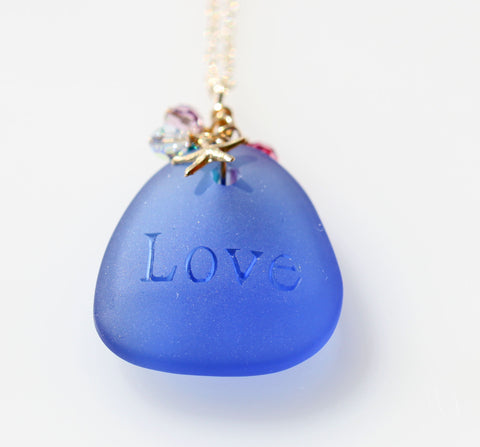 Love Pure Mermaid necklace Blue1☆ラブピュアマーメイドネックレス☆ブルー1
