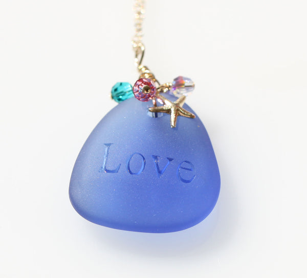 Love Pure Mermaid necklace Blue2☆ラブピュアマーメイドネックレス☆ブルー2