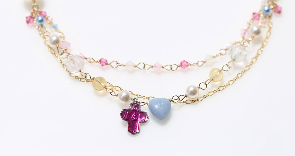 St.Mary holy spring at Loudes necklace1 ☆ルルドの泉のマリア様☆マーメイドネックレス1