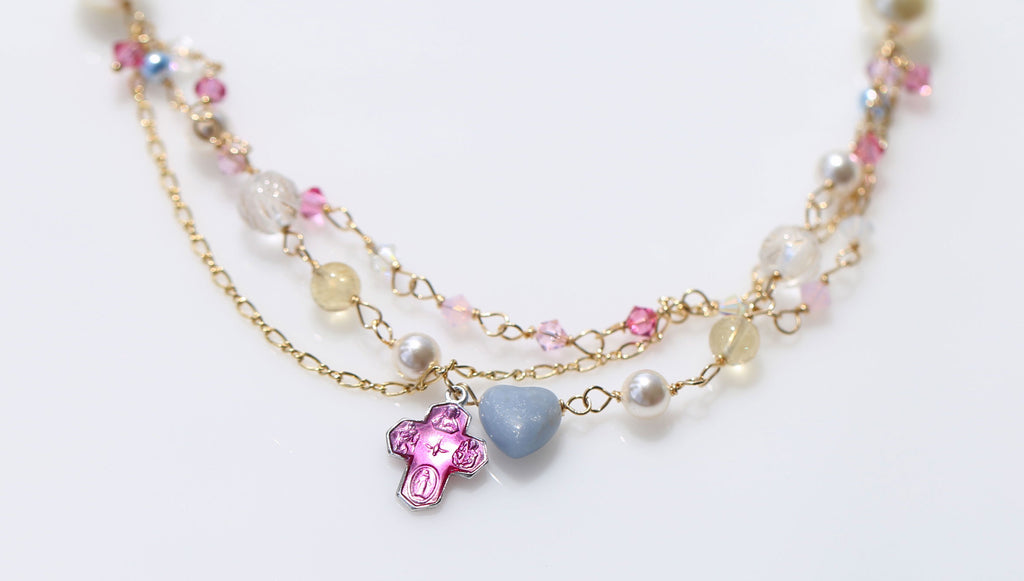 St.Mary holy spring at Loudes necklace2☆ルルドの泉のマリア様☆マーメイドネックレス2