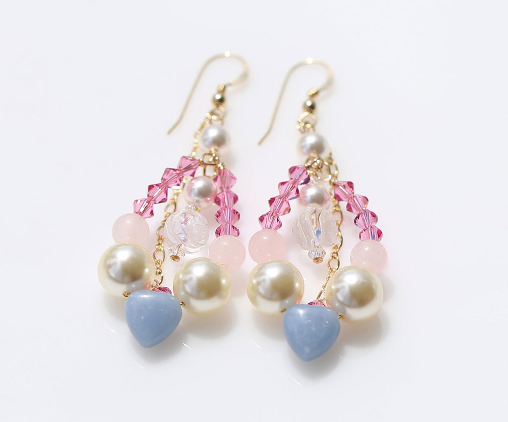 St.Mary holy spring at Loudes earrings1☆ルルドの泉のマリア様☆マーメイドピアス1