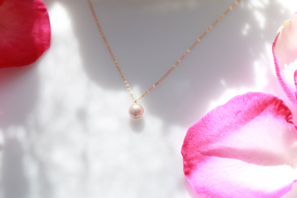 Ocean pink pearl necklace☆オーシャンピンクパールネックレス