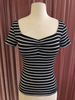 Black & White Striped Sailor Girl Sweetheart Tee