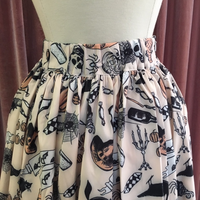 Peachy Halloween Printed Swing Skirt