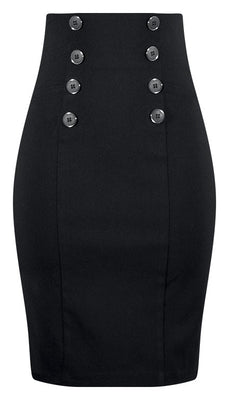 High Waist Pin Me Up Pencil Skirt