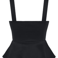 Black Miss Vixen Pinup Peplum Top