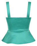 Miss Vixen Pinup Peplum Top in Mint