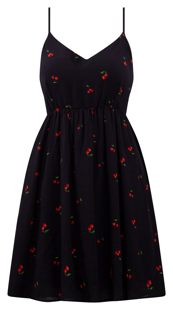 Baby Doll Cherry Print Dress