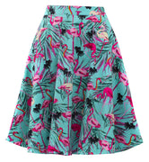 Pink Flamingo Circle Skirt