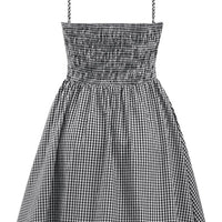 Black & White Retro Inspired Gingham Swing Dress