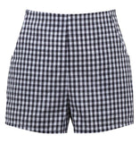 Retro Gal High Waisted Gingham Shorts