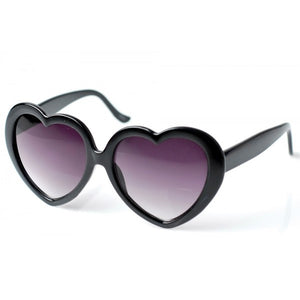 Heart Shaped Sunglasses-Black
