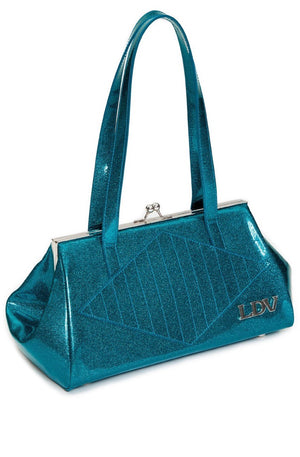 High Roller Kiss Lock Purse in Endless Sea Sparkle